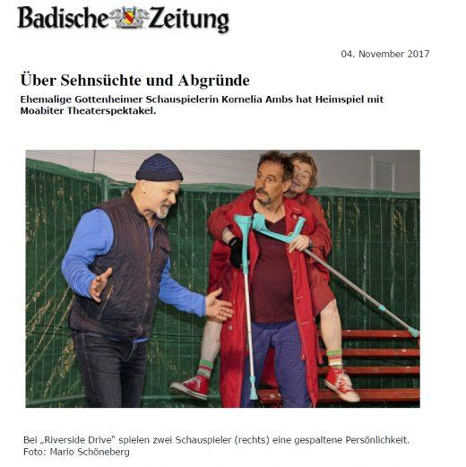 Auch von unserer Aufführung in Gottenheim wurde berichtet.