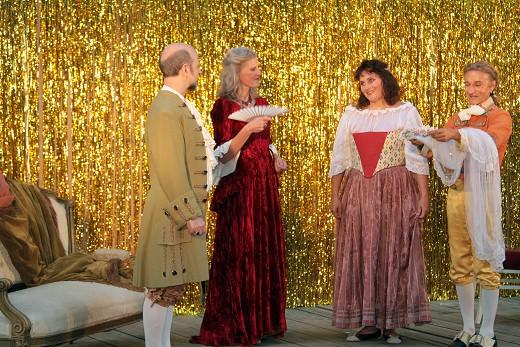 Graf, Gräfin, Susanne und Figaro